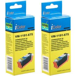 2 cartouches compatibles Canon PGI-570BK XL - Noir