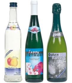 32 étiquettes pour bouteilles avec banderoles