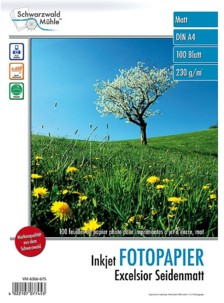 100 feuilles papier photo mat A4 - 230 G