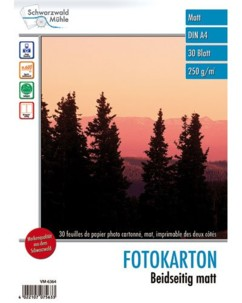 30 feuilles papier photo double face mat A4 - 250 G