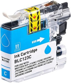 Cartouche compatible Brother LC-123C - Cyan