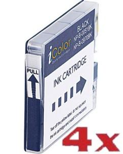 4 cartouches compatibles Brother LC970BK et LC1000BK - Noir
