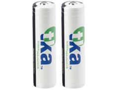 2 batteries lithium-ion 18650 3,7 V / 2600 mAh