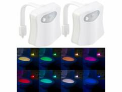 Lot de 2 lampes pour WC avec capteur de mouvement.