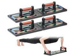 """Planches de musculation """"Push Up Boards"""" avec poignées amovibles."""