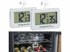 Lot de 2 thermomètres pour réfrigérateur avec fonction hygromètre.