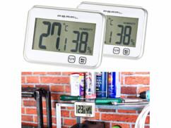 Lot de 2 thermomètres hygromètres électroniques tactiles Pearl.
