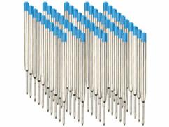 Lot de 25 recharges d'encre bleue pour stylo à bille épaisseur B.