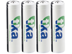 4 batteries lithium-ion 18650 3,7 V / 2600 mAh