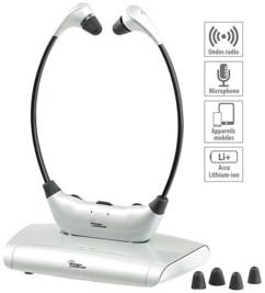 casque TV sans fil amplifié pour seniors et malentendants newgen medicals kh-180
