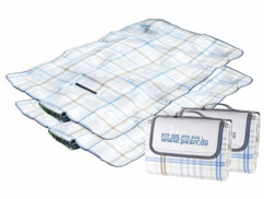 Lot de 2 couvertures de pique-nique à croisillons de 140 x 100 cm.