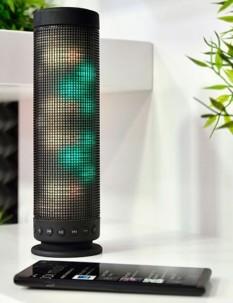Haut-parleur avec bluetooth, lecteur MP3 intégré et effets lumineux