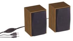 paire de mini haut parleurs en bois pour pc mac notebook avec prise jack 3,5 mm