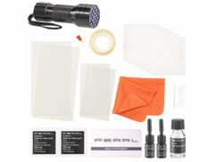 Kit de réparation pour écran d'appareil mobile avec lampe UV.