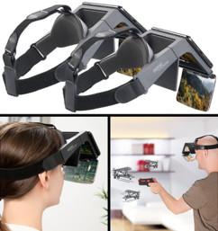 Lunettes de réalité augmentée 69° pour smartphones - 2 paires