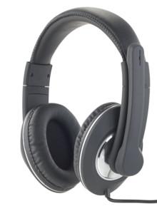 casque audio pv filaire double jack 3.5mm avec micro rigide Auvisio GH-100