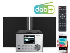 mini chaine hifi avec bluetooth radio fm dab+ numerique usb cd 2 haut parleur 60w irs-500 auvisio