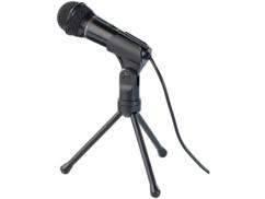 Microphone avec support pour PC et Mac