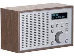radio internet design bois avec reveil et bruits nature pour endormissement asmr irs-315 auvisio