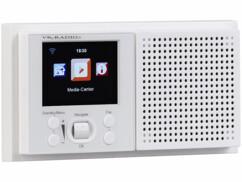 Radio Internet encastrable, contrôlable par application mobile.