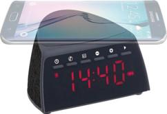 Radio-réveil à fonctions bluetooth, chargeur Qi & mains libres