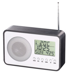 Radio-réveil FM design avec port de chargement USB