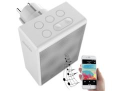 Radio secteur FM avec fonctions bluetooth et mains libres, blanc