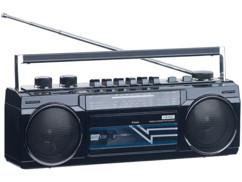 radio fm avec lecteur cassette k7 style retro vintage et lecteurs mp3 usb sd bluetooth auvisio mps 670