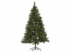 Sapin de Noël artificiel de 180 centimètres de haut, avec 750 épines en PVC et une guirlande de 500 LED intégrée.