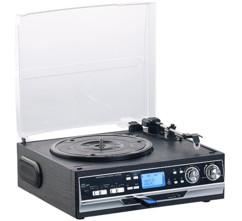 platine vynile avec encodeur audio vers usb avec lecteur cassette k7 audio auvisio mhx-400