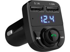 """Transmetteur FM/bluetooth avec chargement USB et mains libres """"FMX-540.fs"""""""