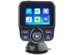 trasnmetteur audio fm pour voiture avec mode mains libres sans fil radio numerique dab lecteur carte memoire auvisio