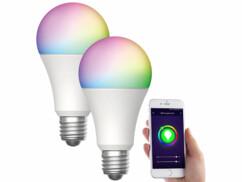 2 ampoules LED connectées E27/ 9 W / RVB / CCT LAV-150.rgbw