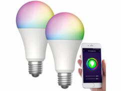 2 ampoules LED connectées LAV-160.rgbw E27- 12W - RVB CCT