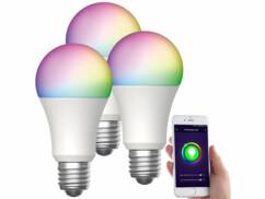 3 ampoules LED connectées E27/ 15 W / RVBB LAV-170.rgbw