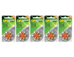 Lot de 30 piles bouton PR48 de la marque GP Batteries.