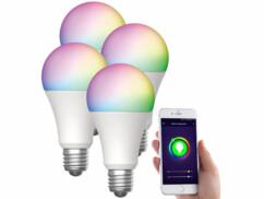 4 ampoules LED connectées E27/ 9W / RVB / CCT LAV-150.rgbw