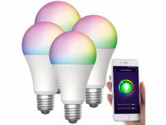 4 ampoules LED connectées LAV-160.rgbw E27- 12W - RVB CCT