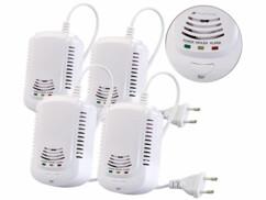 4 détecteurs de gaz domestiques avec alarme 85dB