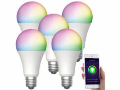 5 ampoules LED connectées E27/ 9W / RVB / CCT LAV-150.rgbw