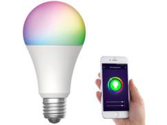 Ampoule LED LAV-160.rgbw connectée par application mobile.