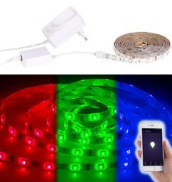 Bande LED LAC-206 - 2 m RVB - Avec accessoires