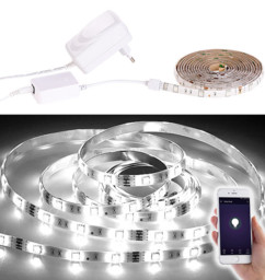 Bande LED LAK-515 - 5 m blanc lumière du jour - Avec accessoires