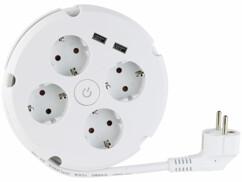 Multiprise 4 prises avec 2 ports USB 2,1 A