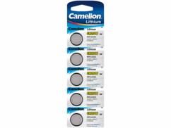 Piles bouton CR2016 Lithium, 3 Volt, 75 mAh - x5