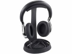 Support universel pour casque audio avec plateau spécial câble