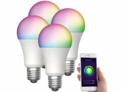 4 ampoules LED connectées E27/ 15 W / RVBB LAV-170.rgbw