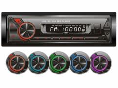 Le cadre de l'autoradio CAS-1600.bt possède différentes couleurs d'éclairage.