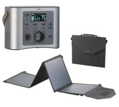 Batterie nomade et convertisseur solaire HSG-650 avec panneau solaire 50 W