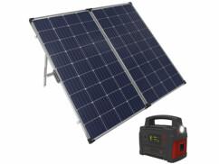 Panneau solaire pliable 260 W avec batterie nomade 600 W de la marque Revolt.